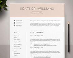 Resume Template Word CV Template Resume Curriculum Vitae | Etsy #resumetemplate #cv