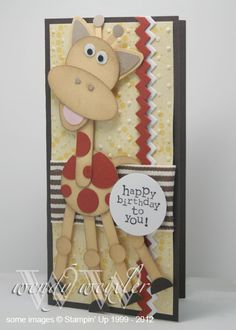 Wickedly Wonderful Creations: Punch Art Giraffe for Jacob
