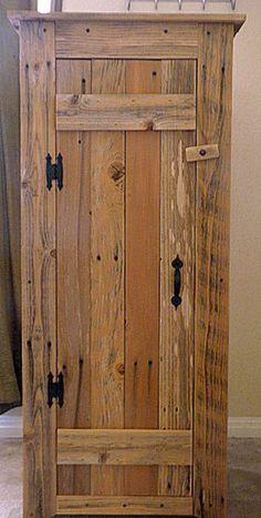 New furniture makeover rustic kitchen cabinets 55 Ideas Rustic Cabinet Doors, Rustic Storage Cabinets, Rustic Kitchen Cabinets, Primitive Kitchen, Kitchen Cabinet Doors, Kitchen Canisters, Cupboards, Country Kitchen, Pallet Furniture
