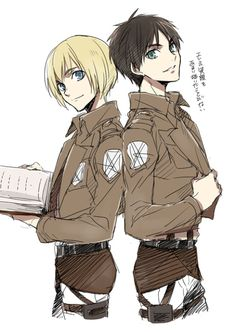 Imagem de attack on titan, shingeki no kyojin, and armin