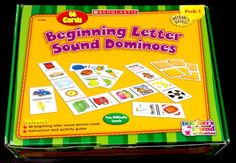 Scholastic Hands-On Learning Beginning Letter Sound Dominoes Game Homeschool #Scholastic