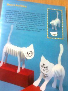 Kočky ze skládaného papíru. Puppets, Crafts For Kids, Christmas Ornaments, Holiday Decor, Children, Diy, Gatos, Crafts For Children, Young Children