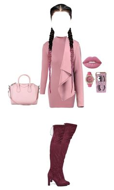 """Ms.Classy"" by xxxfasiontrendsxxx on Polyvore featuring Boohoo, Lime Crime, Olivia Pratt, Chiara Ferragni, Givenchy and Sam Edelman"