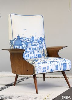 Montreal-based upholstery & textile design company offering an eco-friendly upholstery service for secondhand furniture and a selection of unique product Home Textile, Textile Design, Chair Repair, Second Hand Furniture, Wingback Chair, Decoration, Accent Chairs, Upholstery, Textiles