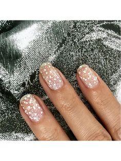 23 Bridal Manicure Ideas - Glittering lavender nails