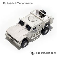 Oshkosh M-ATV military 4x4 truck paper model