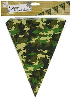 Beistle 50709 Camo Flag Pennant Banner 10 by 12Feet *** To view further for this item, visit the image link.