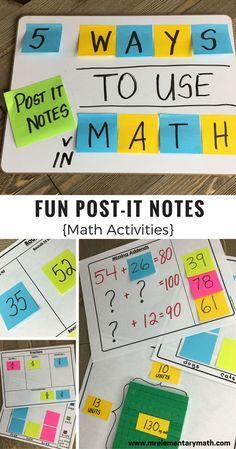 Discover 10 ways to teach math using post it notes. There are ideas for teaching addition, even and odd numbers, fact families, comparing numbers, rounding, fractions, decimals, area and graphing. Sticky notes help make learning interactive and fun! Click on the link for more details.