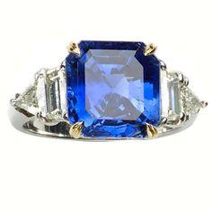 Cartier 7.51 Carat GIA Cert Burma Sapphire Diamond Gold Platinum Ring 1