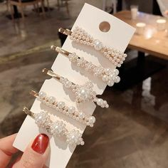 This item is unavailable Cute Jewelry, Hair Jewelry, Fashion Jewelry, Jewellery, Hair Barrettes, Hair Bows, Hair Clips, Pearl Hair Pins, Accesorios Casual