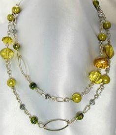 Vintage Beaded Necklace. $15.00, via Etsy.