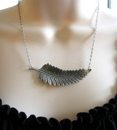 I love this.  Silver-Plated Fern Necklace | Jewelry Earrings | Botanical Bird | Scoutmob Shoppe | Product Detail