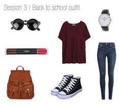 """""""Back to School"""" by girl-mintgreen on Polyvore featuring H&M, Zara, Accessorize, Daniel Wellington and L'Oréal Paris"""