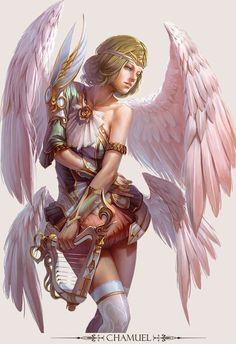 ∑∑☪ Angel Wings :: Game Character Design - Fantasy Artwork by Hong Yu Cheng-24