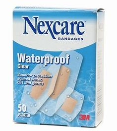 Nexcare waterproof clear bandages, assorted - 50 ea Nexcare waterproof clear bandage superior protection against water, dirt and germs. , Medicine , Personal And Health Care . Free Samples Without Surveys, Free Samples By Mail, Free Makeup Samples, Freebies By Mail, Natural Rubber Latex, Aleta, Shape Design, Brand Names, Medicine