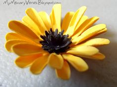 I made this paper flower - Yellow Daisy    Check out my blog for the tutorial!