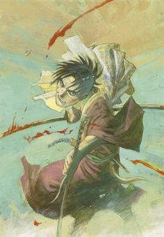 Hiroaki Samura, Blade of the Immortal, BotI Illustration Collection, Manji