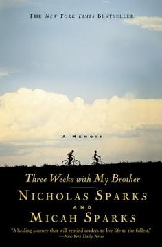 Three Weeks With My Brother. The inside scoop to Nicholas Sparks' life...nothing like you'd expect and worth the read or listen to during a road trip (available on CD- about 9.5 hours)