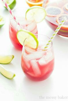 This pretty pink sangrita is the result of combining two beloved cocktails: margarita and sangria. Sip slow on this sweet, yet tart, treat though -- the tequila and wine combo is not to be messed with. Batch Cocktail Recipe, Cocktail Recipes, Margarita Cocktail, Cocktail Drinks, Rose Cocktail, Sangria Margarita Recipe, Signature Cocktail, Summer Cocktails, Tequila Sunrise