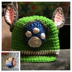 Finn's Pick for this week is a perfect #PawPatrol hat made by @DeniseMFisher for her son's birthday... #crochet