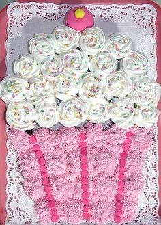 A cupcake made out of cupcakes, what a clever idea!