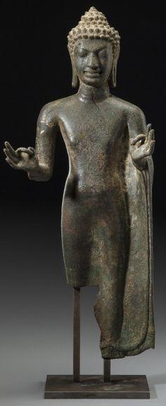 The Eilenberg Buddha<BR />Copper alloy Thailand, Mon Dvaravati period, circa century Laos, Art Thai, Black Buddha, Asian Sculptures, Southeast Asian Arts, Buddha Sculpture, Bronze Sculpture, Thailand Art, 3d Figures