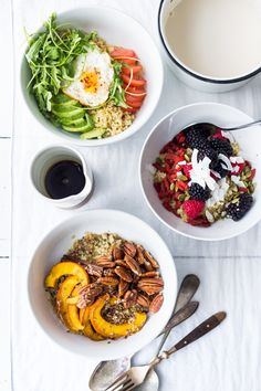 Morning Bowls to prep ahead for the busy workweek. Healthy, gluten free and vegan adaptable. | www.feastingathome.com