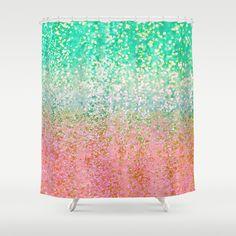 Summer Rain Merge Shower Curtain by Lisa Argyropoulos - $68.00
