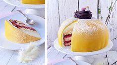 5 underbara recept på påsktårtor som passar perfekt på en påskbuffé eller till påskfikat. Från marängtårta till gul och rosa prinsesstårta! Så goda!