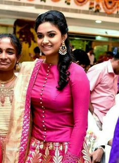 She is the daughter of producer Suresh Kumar and actress Menaka, who is from a conservative Tamil family in Chennai. Keerthy made her debut as a child actress in the early and returned to fill lead Beautiful Girl Indian, Most Beautiful Indian Actress, Beautiful Saree, Beautiful Actresses, Gorgeous Women, Men's Fashion, Fashion Week, Fashion Designer, Indian Designer Wear