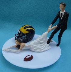 Wedding Cake Topper University of Michigan Wolverines UM by WedSet, $59.99