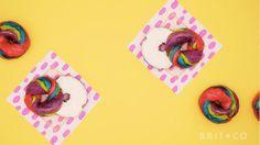 How to Make Tie Dye Bagels