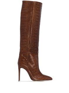 Paris Texas Kniehohe Stiefel Mit Kroko-Effekt - Farfetch