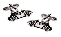 Śmieszny pomysł na prezent dla chłopaka - spinki do mankietów w kształcie kabrioletów ze stali szlachetnej!   NA PREZENT \ Dla mężczyzny ŚLUB \ Stal \ Spinki do mankietów od GESELLE Jubiler