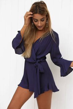 She'll be gone in a flash. Our Gone Girl Playsuit is perf. #fashion #style #trend #playsuit