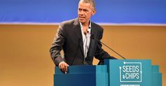 Barack Obama says no country immune from climate change, as Trump considers pulling out of key deal