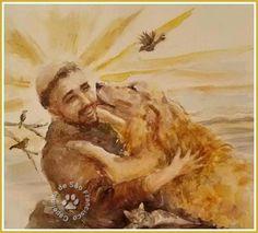 São Francisco Mais Francis Of Assisi, St Francis, Catholic Saints, Patron Saints, Patron Saint Of Animals, Religion, St Clare's, Pet Loss, Rainbow Bridge