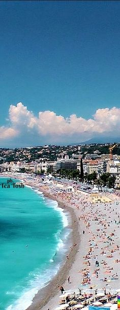 ❇Téa Tosh❇ Nice - Beach and the Promenade des Anglais. French Riviera, France