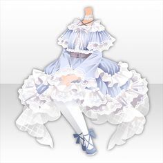 Drawing Anime Clothes, Dress Drawing, Cute Dresses, Cute Outfits, Anime Girl Dress, Fashion Design Drawings, Anime Hair, Anime Costumes, Character Outfits