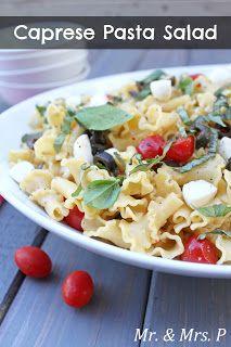 Mr and Mrs P: Caprese Pasta Salad