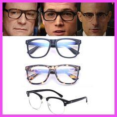 b2ac5a4cac Kingsman The Secret Service Harry Hart Eggsy Eyewear Cosplay Glasses Mark  Strong Merlin Glasses