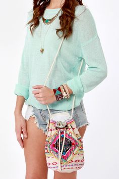 Billabong Take Me There Tribal Print Purse at LuLus.com! #lulusrocktheroad
