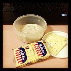 eatin mayo and crackers with my grandaddy when he would come home for lunch