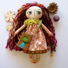 Items similar to Meadow Woodland Girl - handmade cloth doll on Etsy Handmade Dolls, Handmade Gifts, Woodland, Doll Clothes, My Etsy Shop, Textiles, Christmas Ornaments, Disney Princess, Trending Outfits