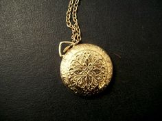 Pocket Watch Pendant by thedepo on Etsy, $27.00
