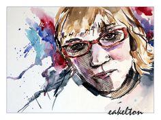 Aquarell Collage / eakelton Portrait, Collage, Art, Watercolor, Figurine, Art Background, Collages, Headshot Photography, Kunst