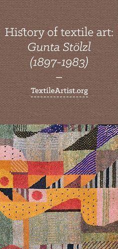 History of textile art: Gunta Stölzl (1897-1983)