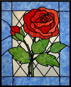 Stained Glass Rose by Ruth Blanchet