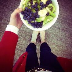 Breakfast idea Blueberry | Banana | Kiwi | Pear this is for Charly