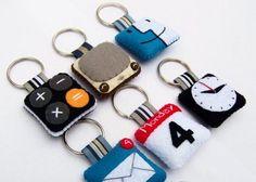 16 Gantungan Kunci Dari Kain Flanel Yang Unik | KerajinanTanganKita.com